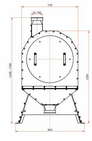 Схема молотковой зернодробилки